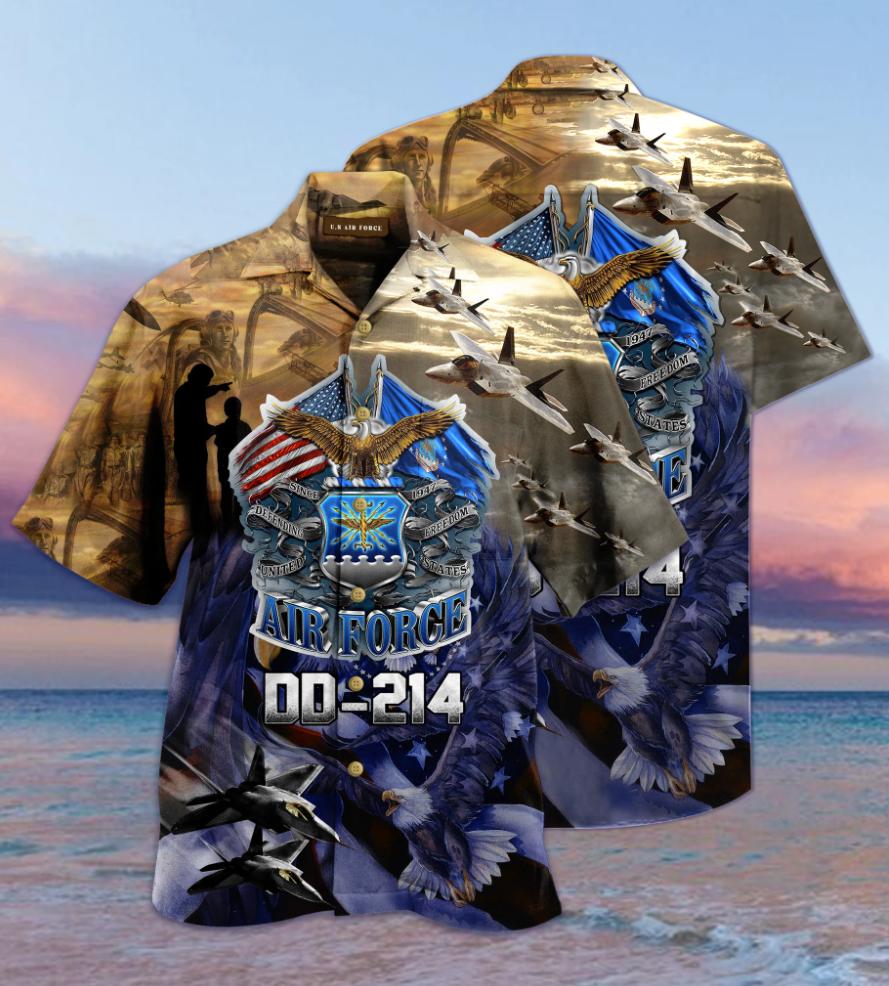 Air force DD-214 hawaiian shirt