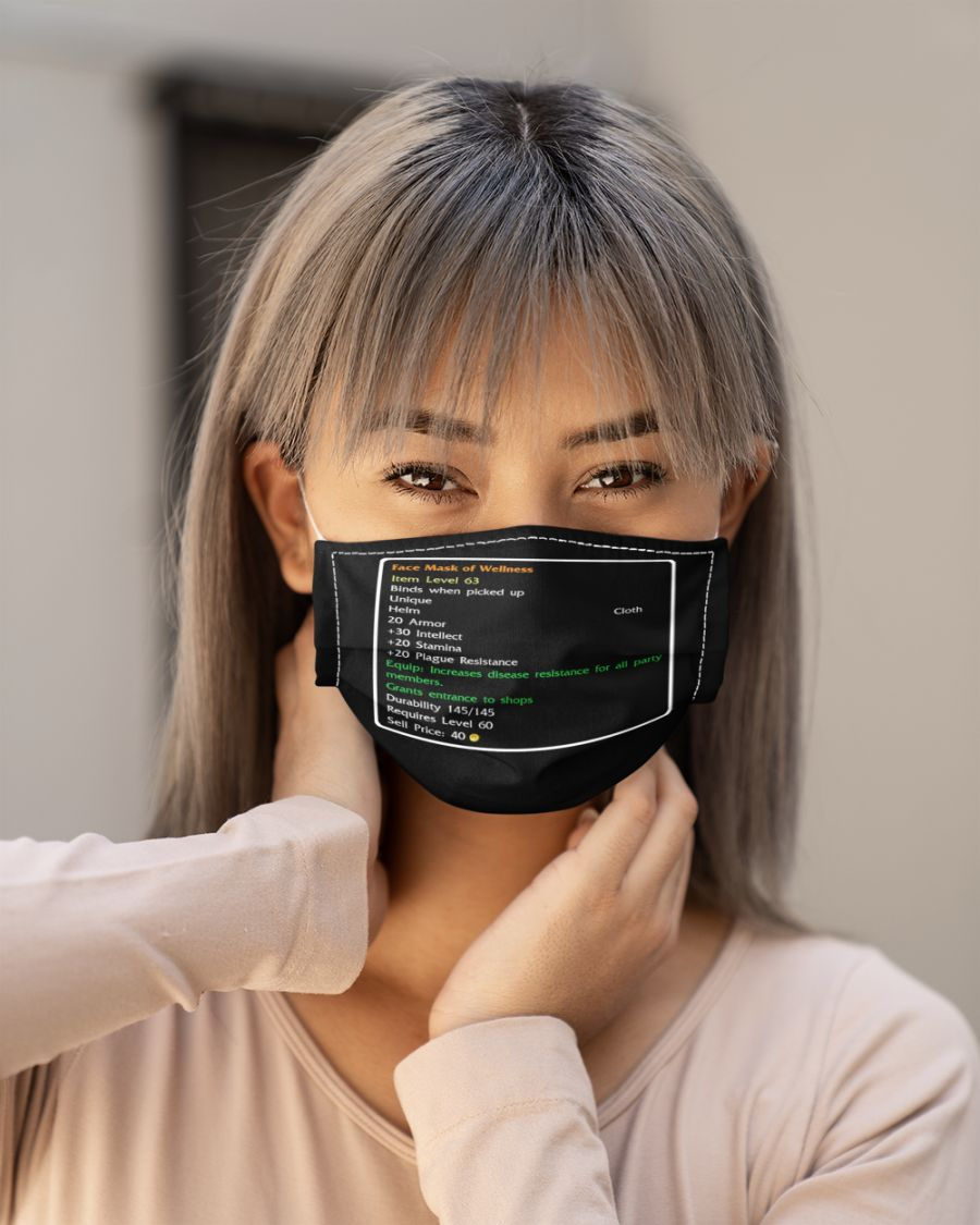 Game face mask of wellness mask 1