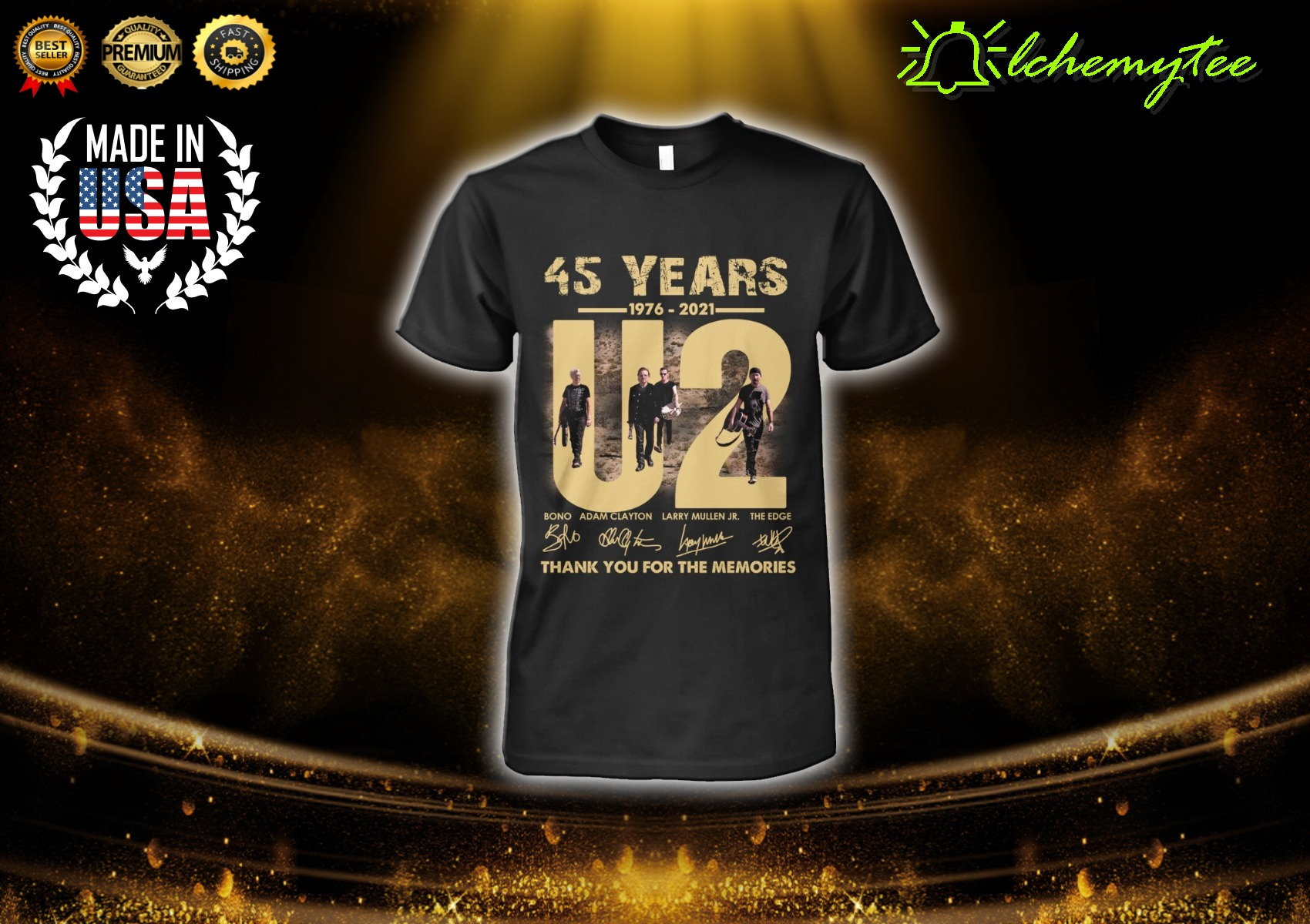 45 Years 1976 2021 U2 Thank You For The Memories Shirt And Hoodie