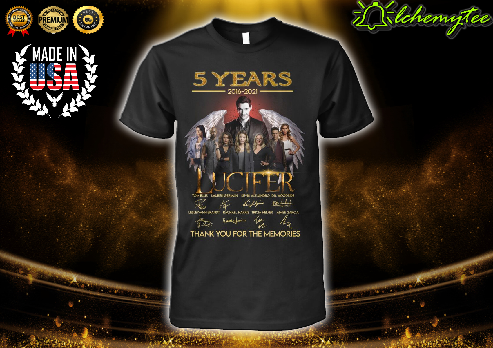 5 years 2016 2021 LUCIFER Thank You For The Memories Shirt