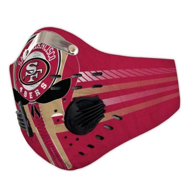 San francisco 49ers punisher skull filter face mask