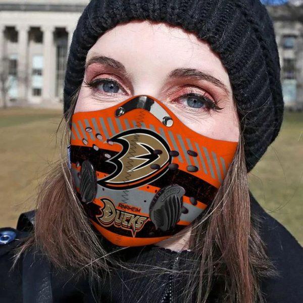 Anaheim ducks filter face mask
