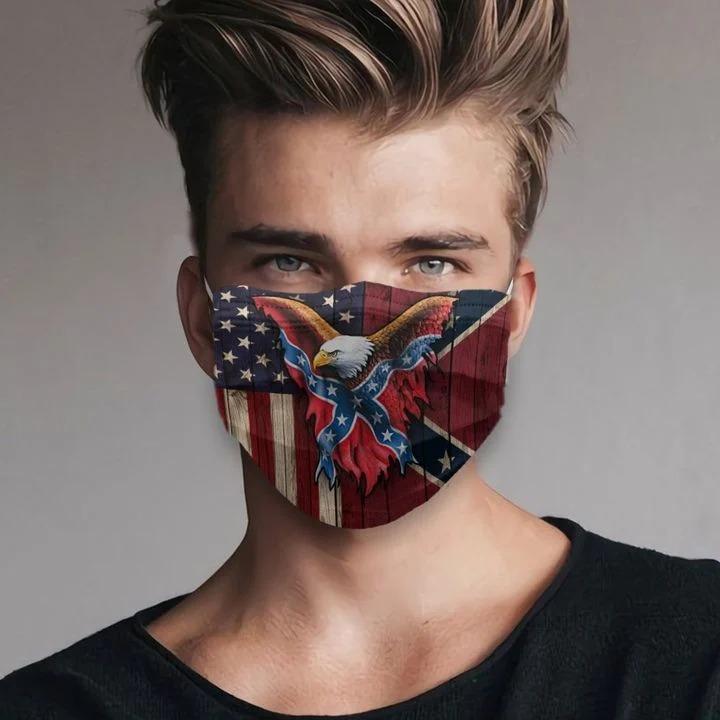 Confederate flag eagle face mask