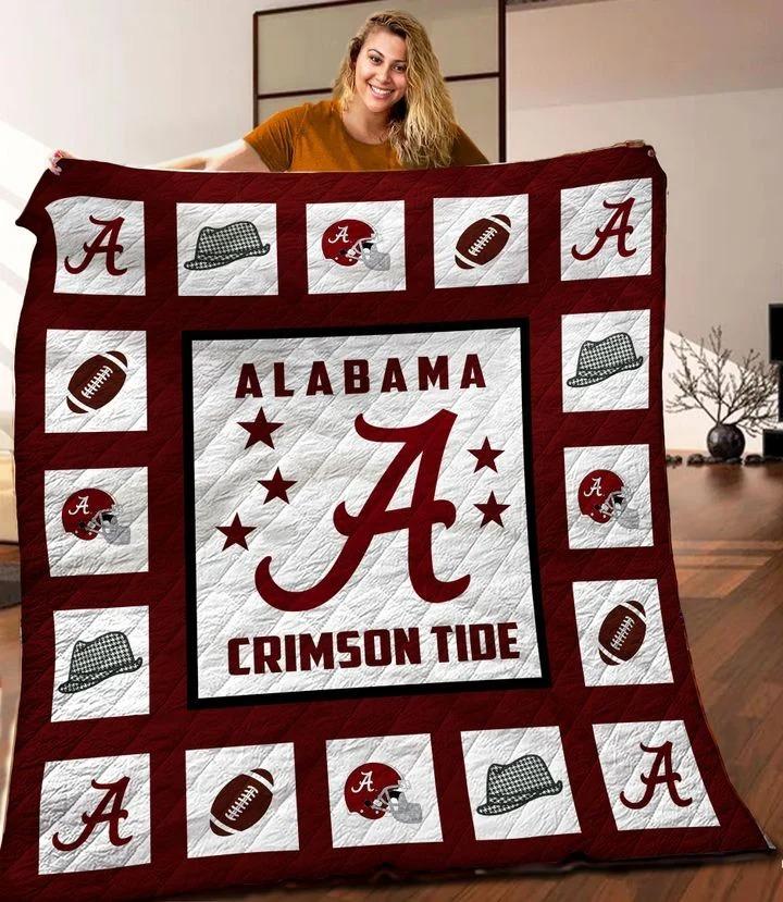 Alabama crimson tide quilt blanket twin