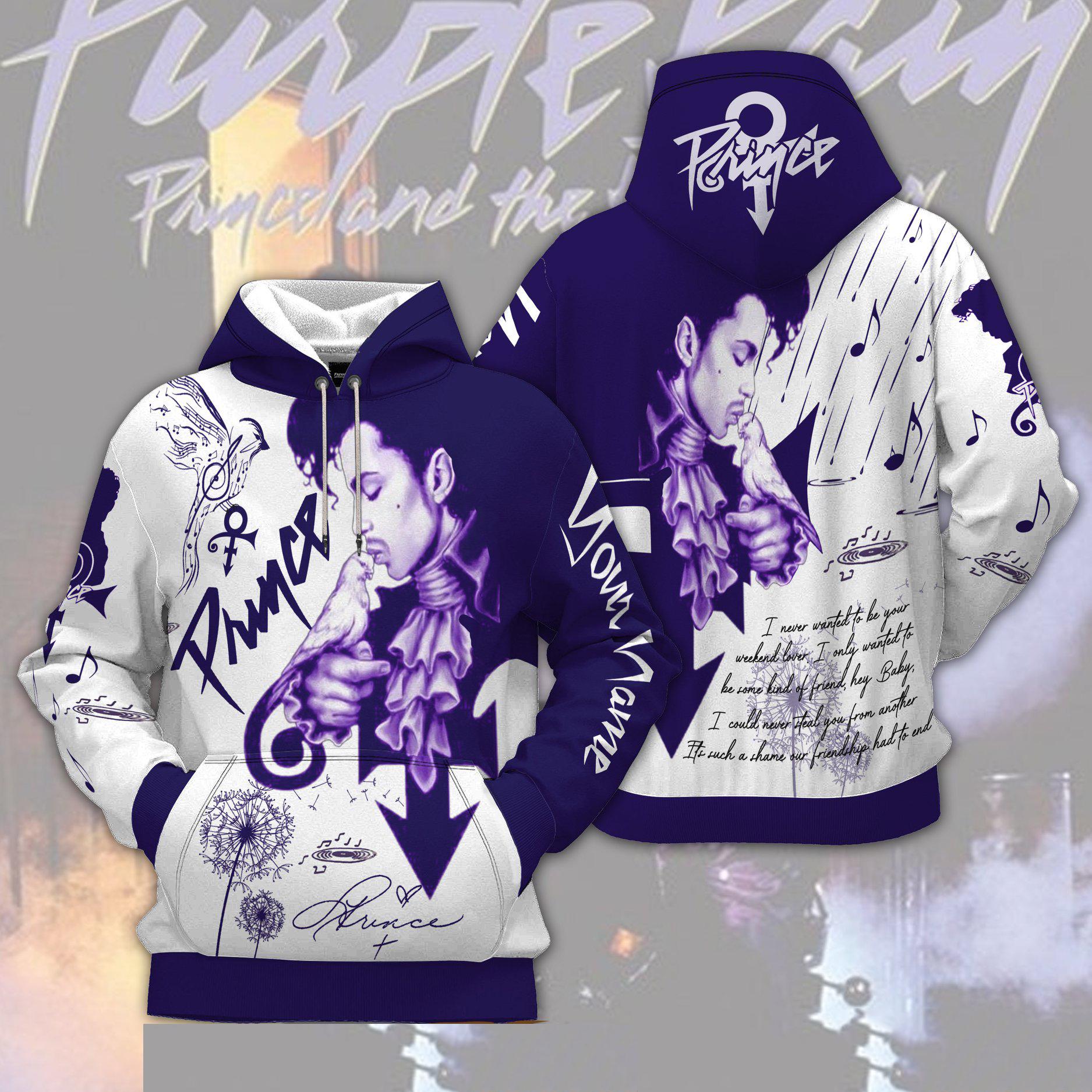 Prince band music 3D Custom Name Hoodie
