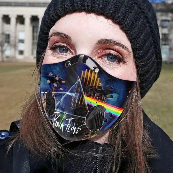 Pink floyd filter face mask