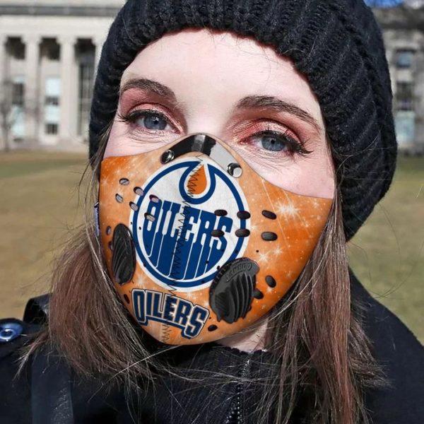 Edmonton olers filter face mask