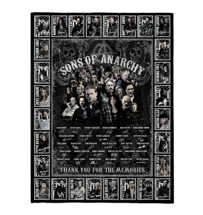 Son of anarchy actors signature blanket