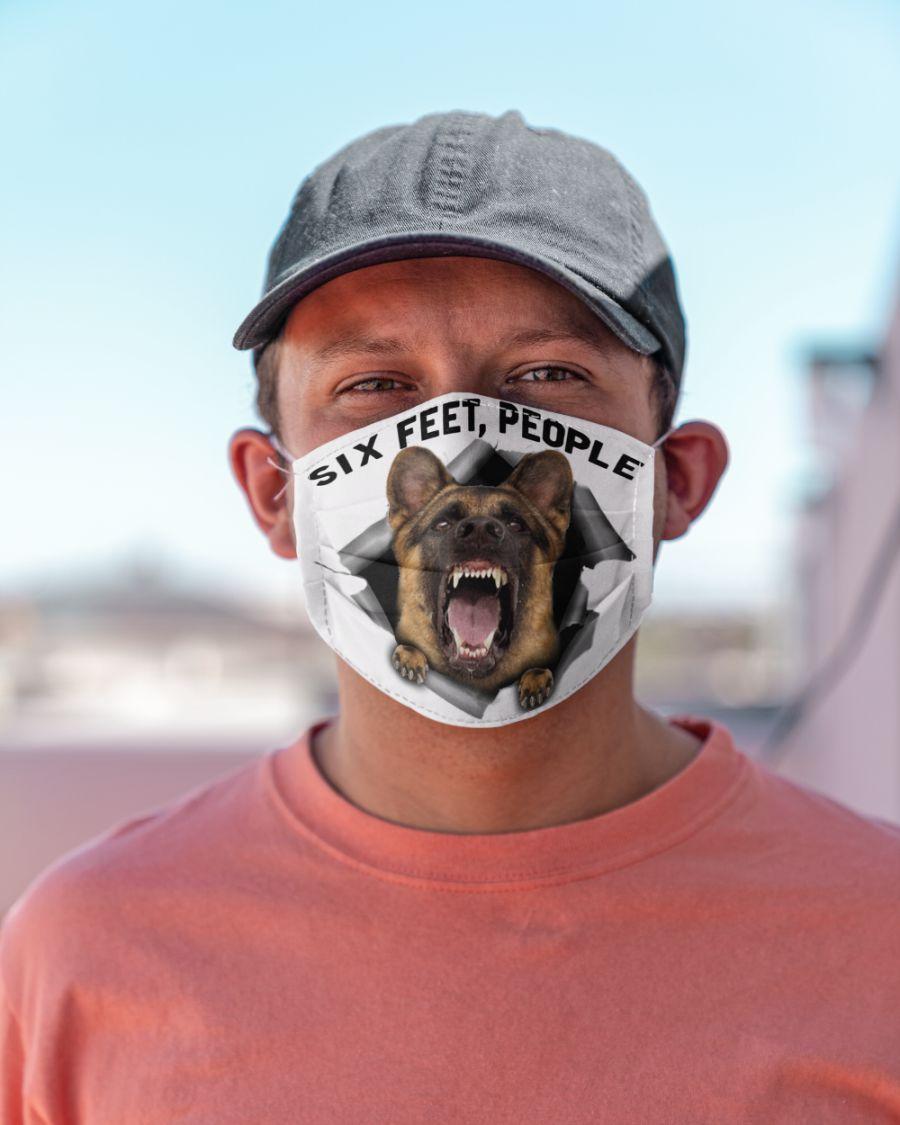 German shepherd 6 feet people face mask 2