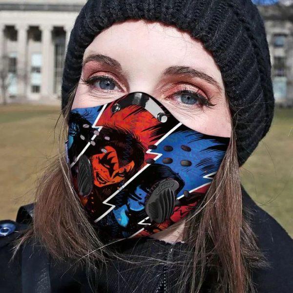 Kiss rock band filter face mask