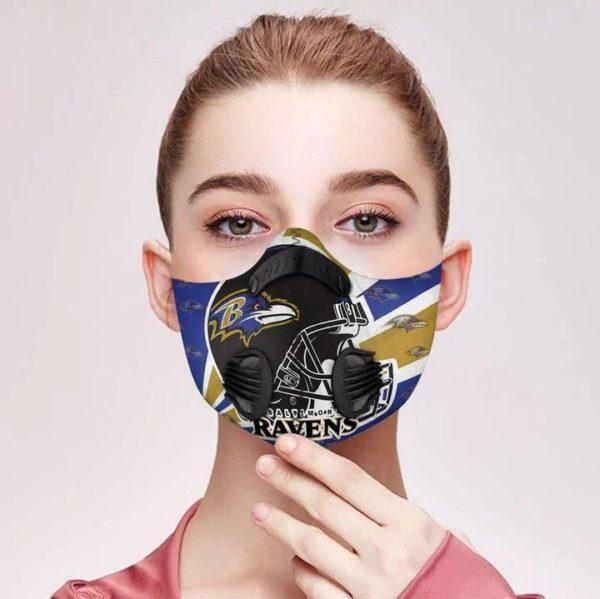 Baltimore ravens filter face mask