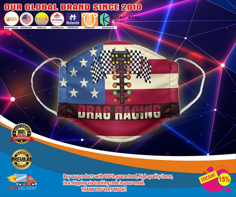 American flagDrag racing face mask1