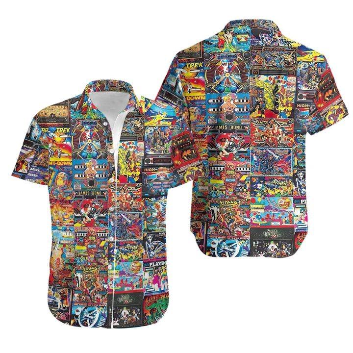 Retro arcade games played in those years hawaiian shirt