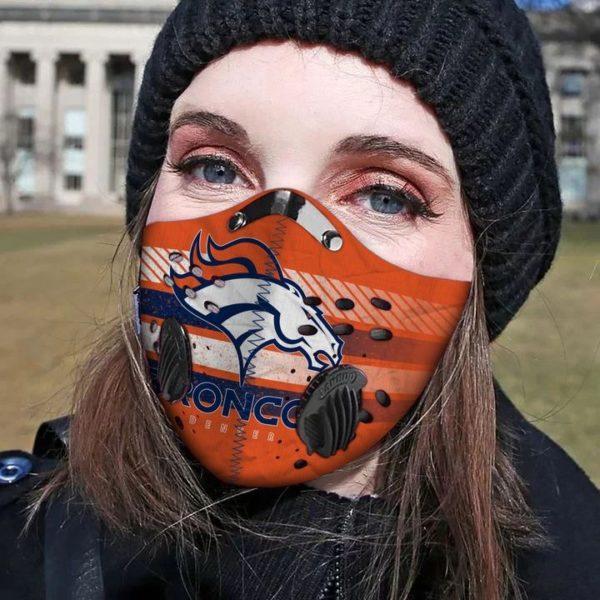 Denver broncos horse filter face mask