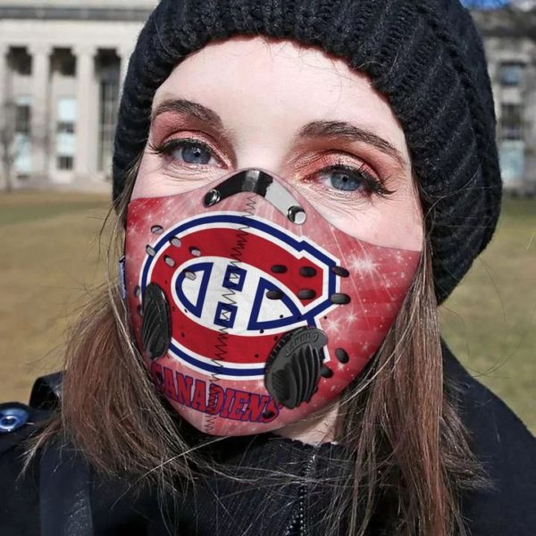 Montreal Canadiens filter face mask 1