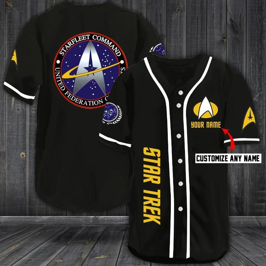 Personalized Star Trek Baseball Jersey Shirt