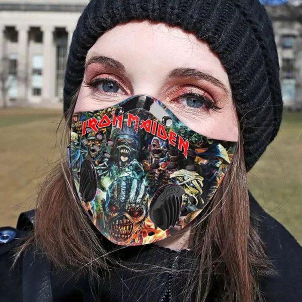 Iron maiden filter face mask 1