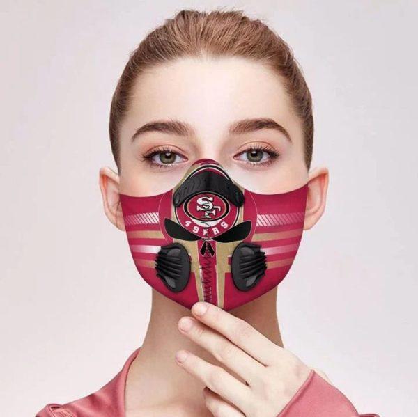 San francisco 49ers filter face mask 1